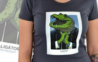 Aligátor šedé dámské tričko