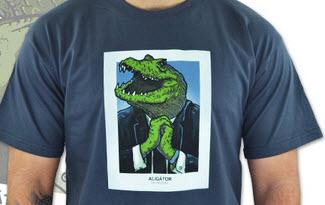 Aligátor šedé pánské tričko