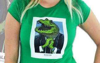Aligátor zelené dámské tričko