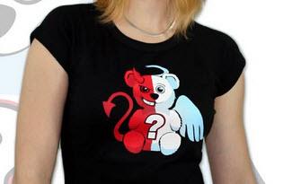 Anděl vs. ďábel dámské tričko