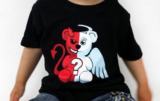 Anděl vs. ďábel dětské tričko