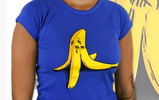 Banán zabiják modré dámské tričko