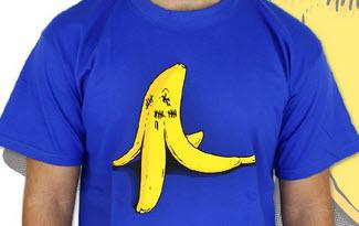 Banán zabiják modré pánské tričko