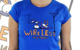 Bezdrát tm. modré dámské tričko