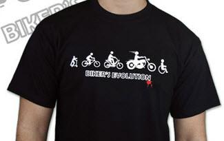 Bikers evolution pánské tričko
