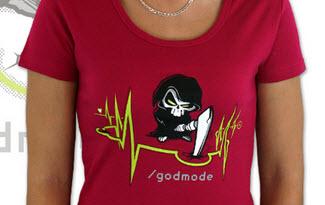 Boží zásah dámské tričko