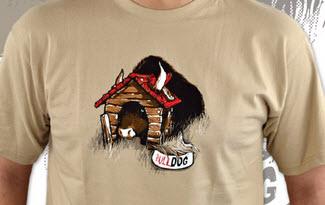 Bulldog hnědé pánské tričko