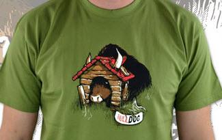 Bulldog zelené pánské tričko