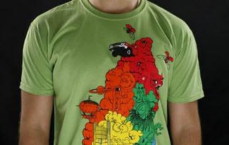 Color Smoke zelené pánské tričko