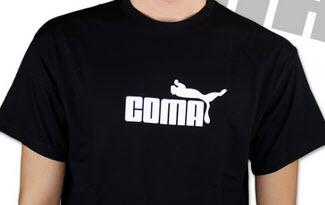 Coma černé pánské tričko
